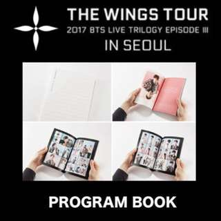 BTS The Wings Tour Program Book