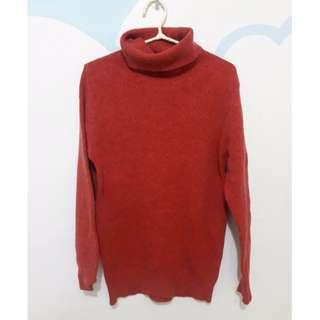 40%羊毛長版毛衣