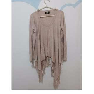 粉紫色正韓鴿子牌 35%羊毛 造型針織衫