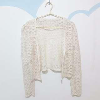 軟蕾絲 罩衫