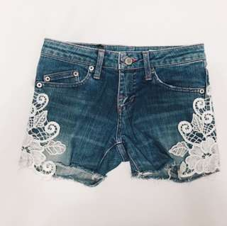 Lace low waisted shorts