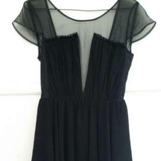 keepsake the label sheer black dress
