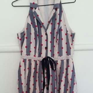karen walker hi there vintage dot stripe dress