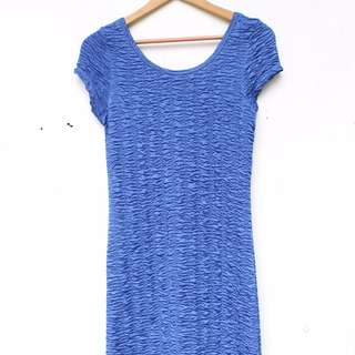 COTTON ON Blue Bodycon Dress