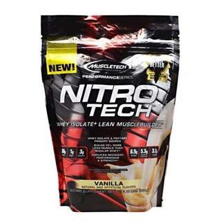 MuscleTech Nitro-Tech Performance Series 1 lb Protein Milk Chocolate and Vanilla Flavour (in Stock) Supplements.