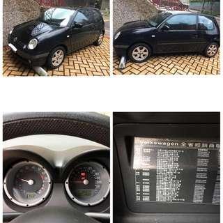 VW 福斯 Lupo 1.4 L黑色 自排 女用一手車 2004/10,2005款