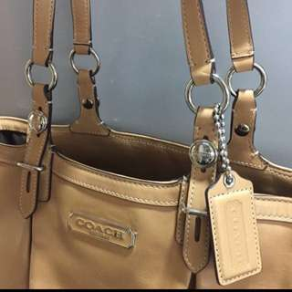 100% real&new genuine leather coach bag