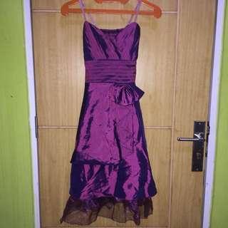 Gaun Pesta Dark Purple Chiffon