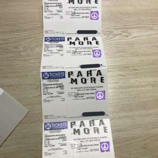 2 PARAMORE LOWER BOX TICKETS