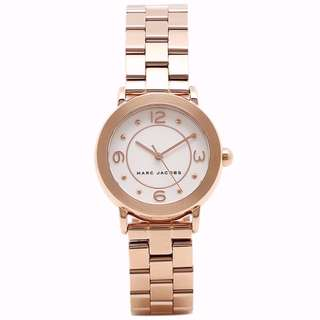 BN Marc Jacobs MJ3474 Riley White Dial Ladies Watch (Rose Gold) [FINAL CLEARANCE NON NEGO]