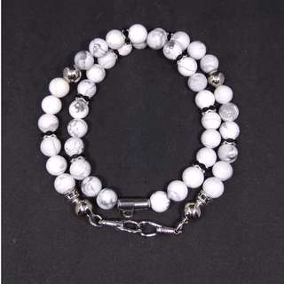 8 mm High Quality Gem Stone Beads Amulet Necklace (2 Hooks) (Size Available : 52 - 68 cm)