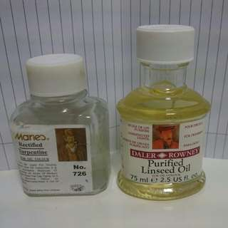 Linseed Oil and Rectified Turpentine