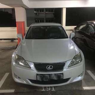 Lexus IS250 V6 - Short Term Rental! (Uber/Grab/Wedding)