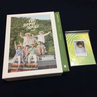 (WTS) BTS OFFICIAL SUMMER PACKAGE 2017 FULL SET + TAEHYUNG V SELFIE BOOK