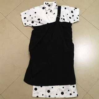 Final sale ~  Y's Yohji Yamamoto toga dress
