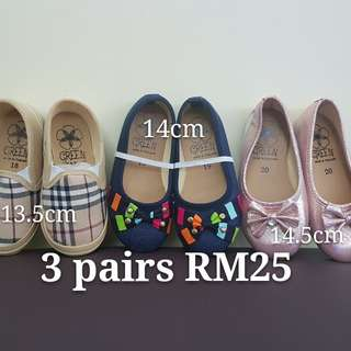 Girl Shoes ( 3 for RM25)