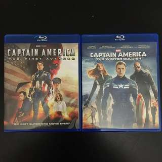 Captain America Blu Ray 1 & 2