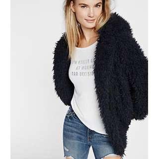 Express fuzzy teddy jacket