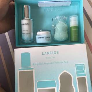 (JUAL SANTAI NO NEGO) Laneige Whitening Essence - Original Ampoule Essence Set
