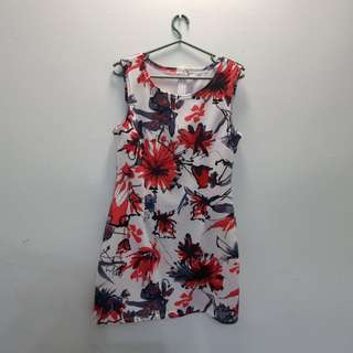 FLORAL BODY HUGGING DRESS