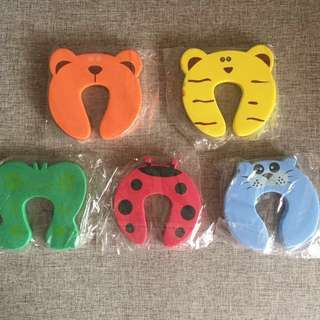 Colorful Animal Cushion Baby Finger Safe Door Stopper