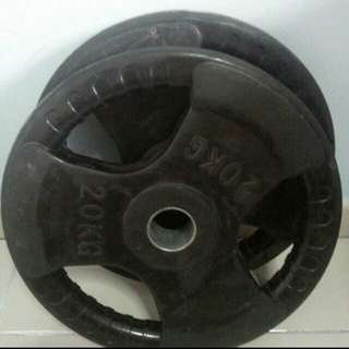 2 Olympic 20kg Weight Plates