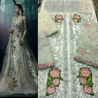 Sana Safinaz Bridal Dress with Stone Work and Pearls