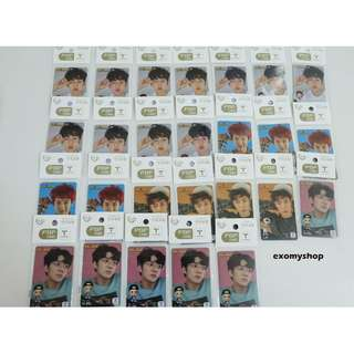 [Ready Stock] EXO Baekhyun /Sehun /Chanyeol / Lay / T-Money Korea Transport Card