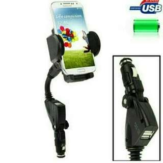 Car Holder With USB Charger