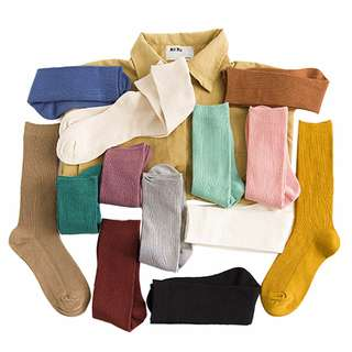 Candy Color Wrinkle Socks