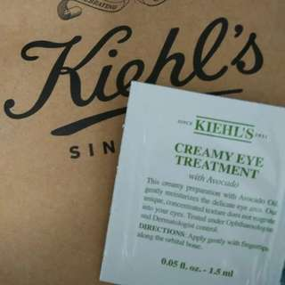 (BN w/ NM) Kiehl's Creamy Eye Treatment Cream with Avocado (Travel Packets 1.5ml) / Trial Packs for Face
