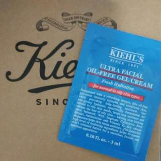 [BN w/NM] Kiehl's Ultra Facial Oil-Free GEL CREAM for Face (3 ml travel packets / trial sample packs)