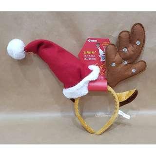 現貨 限量 韓國 大創 Daiso LED 聖誕帽 麋鹿 聖誕 髮箍 髮堀 活動 飾品