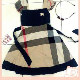 dress gegirl burberry / boboy kemeja , 100% cotton