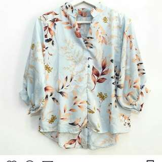 [BARU] fleur back button top
