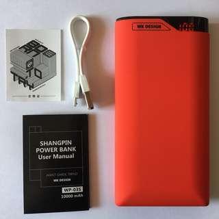 10000mAh 2A 雙輸出外置充電器 (WK Design)