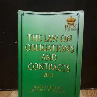 Law on Obligation and Contracts by De Leon