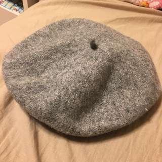(降價)百搭貝蕾帽 灰色