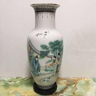 Vintage Porcelain Vase - Hand Painted 1980s