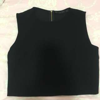 Zara Black Office Crop top