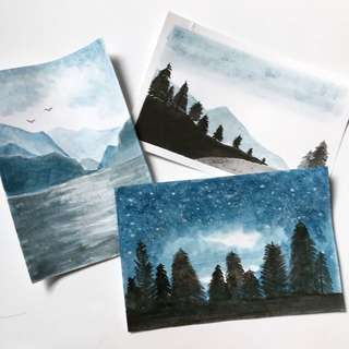 Landscape Watercolour Cards #1212YES