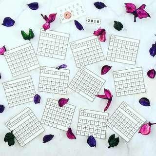 Bullet Journal 2018 Calendar Stickers