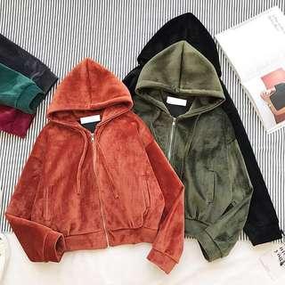 Velvet Hoodie Jacket