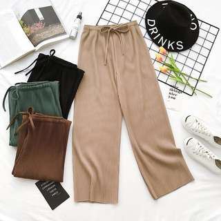 Pleated Drawstring Pants