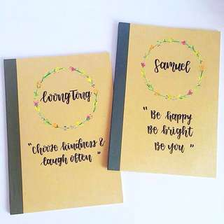 Customisable Christmas Colleagues graduating Colleague Day Student Presents Present Gift Gifts Students Door Birthday friend Friends Party Kid Kids Boy Girl Calligraphy Personalised Customised Farewell Notebooks Notebook Muji cheap affordable