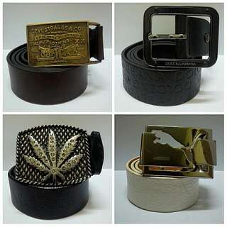 Genuine Leather Belt / Buckle (Authentic)