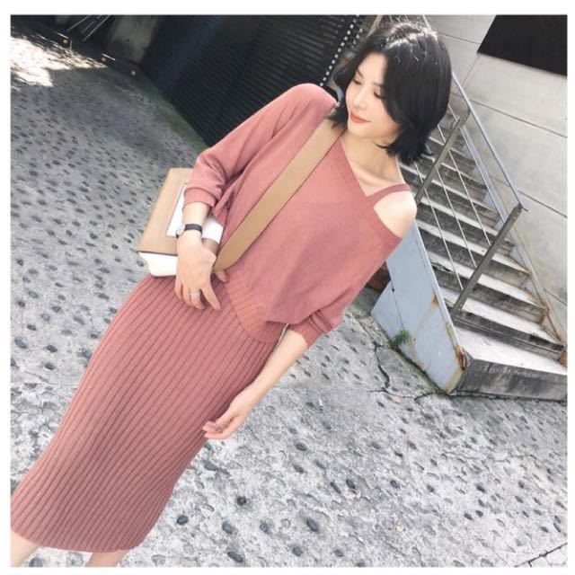 2 in 1 Knitted Dress