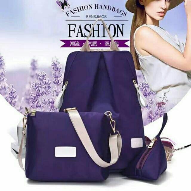 3 in 1 violet bag