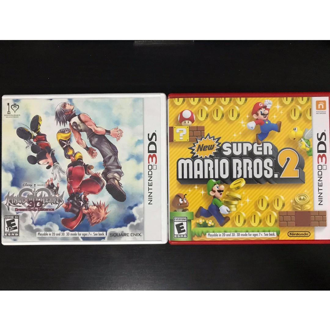 -PRICE REDUCED- *3DS* KINGDOM HEARTS DREAM DROP & NEW SUPER MARIO BROS 2