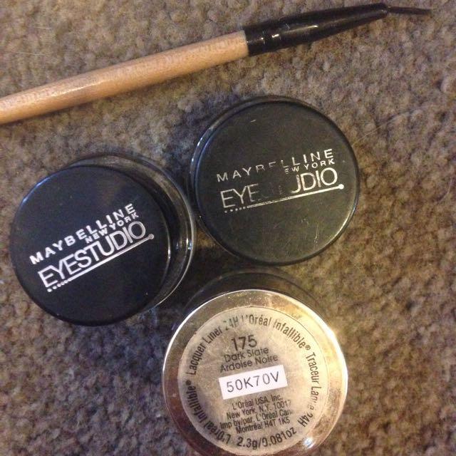 3x gel eyeliner with brush